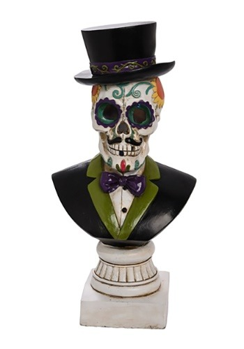 Resin Light Up Day of the Dead Gentleman Bust