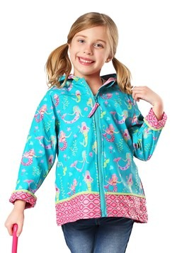 Stephen Joseph Mermaid All Over Print Raincoat1