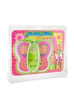 Stephen Joseph Butterfly 4 Piece Mealtime Set