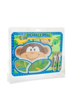 Stephen Joseph Monkey 4 Piece Mealtime Set
