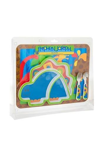Stephen Joseph Dinosaur 4 Piece Mealtime Set