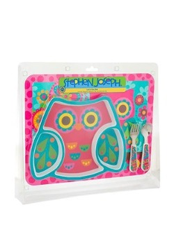 Stephen Joseph Owl 4 Piece Mealtime Set