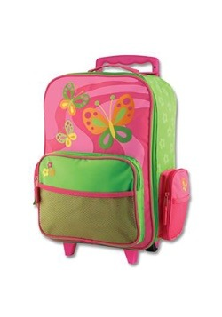 Stephen Joseph Butterfly Rolling Luggage