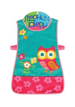 Stephen Joseph Owl Craft Apron for Toddler Girls