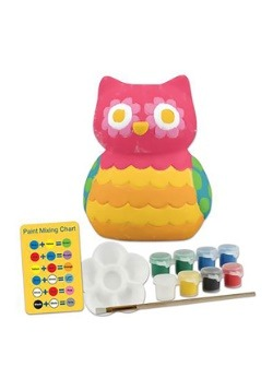 Stephen Joseph Owl Paint Your Own Coin Bank