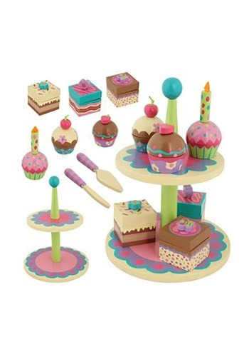 Wooden Stephen Joseph Cupcake Sweets Toy Set