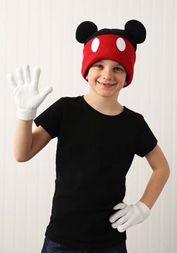 Mickey Mouse Knit Cuff Beanie w/ Gloves Set-update