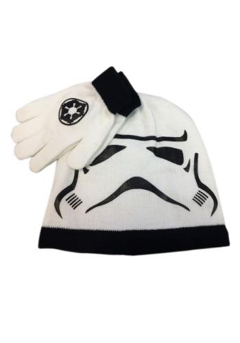 Stormtrooper Kids Big Face Knit Beanie & Gloves Set