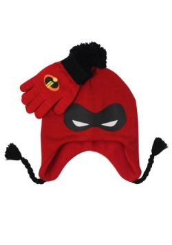 Incredibles Mask Kids Knit Peruvian Hat & Glove Set