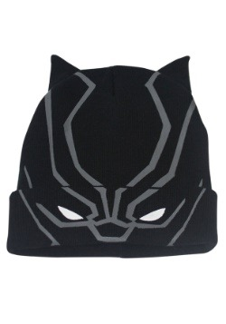 Flip Down Black Panther Knit Beanie