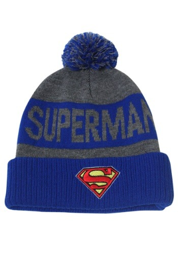 Superman- Cuff Pom Beanie