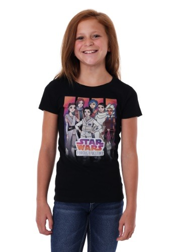 Girl's Star Wars Forces of Destiny Group Shot T-Shirt