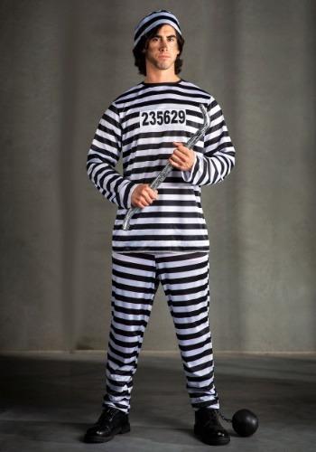 Mens Plus Size Prisoner Costume