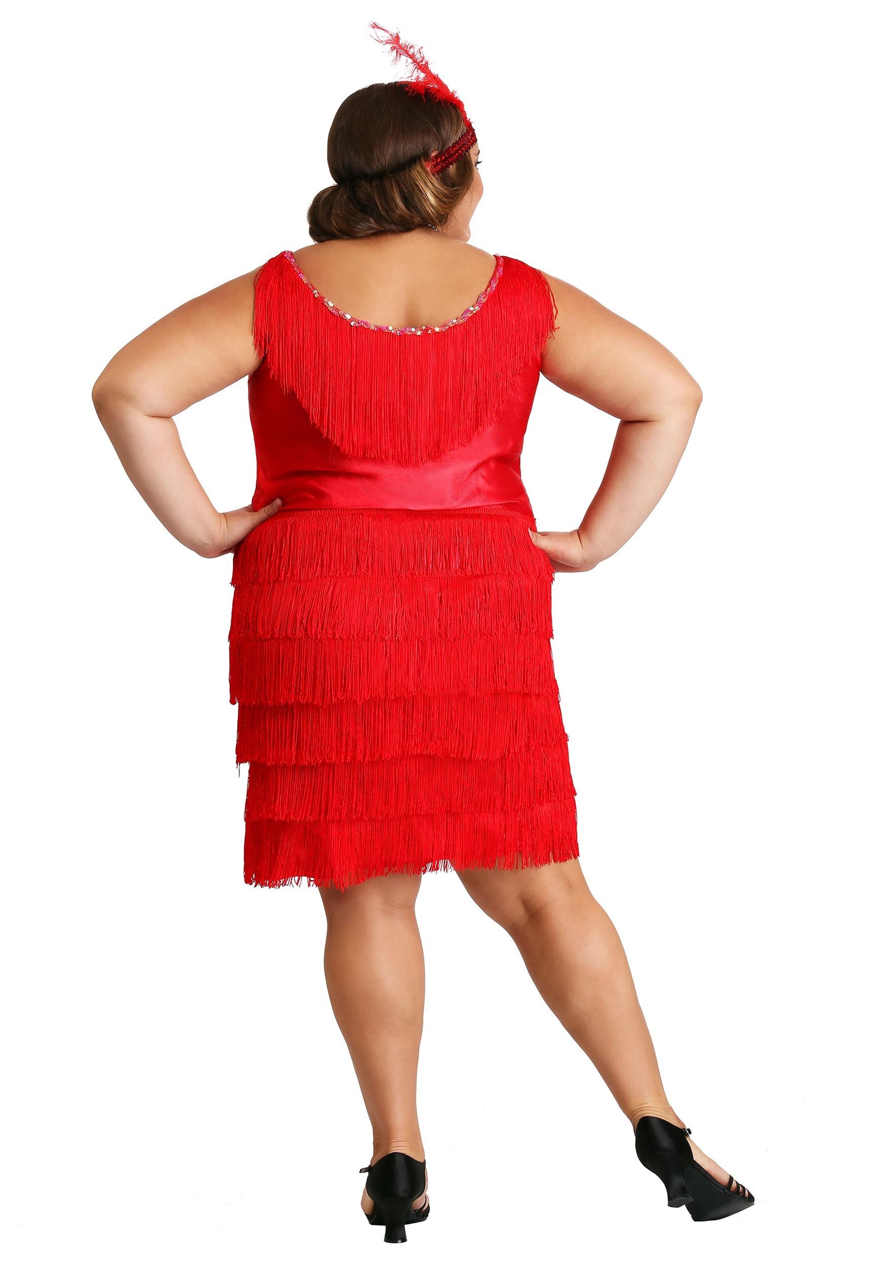 04ec0a21d5d Women s Plus Size Red Flapper Dress