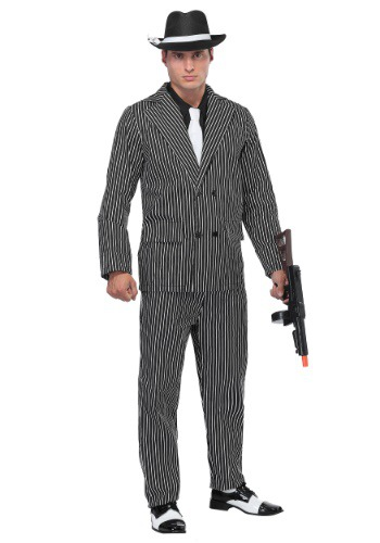 Wide Stripe Plus Size Gangster Suit Costume