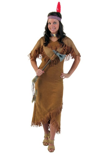 Deluxe Native American Plus Size Women's Costume