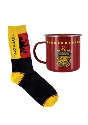 Harry Potter Gryffindor Quidditch Tin Mug & Sock Set update