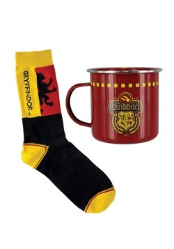 Harry Potter Gryffindor Quidditch Tin Mug Adult Sock Set