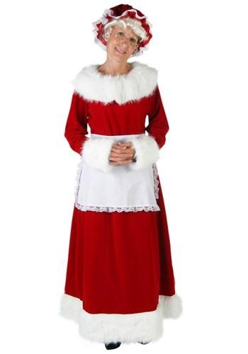 Women's Plus Size Mrs. Claus Costume Update Main
