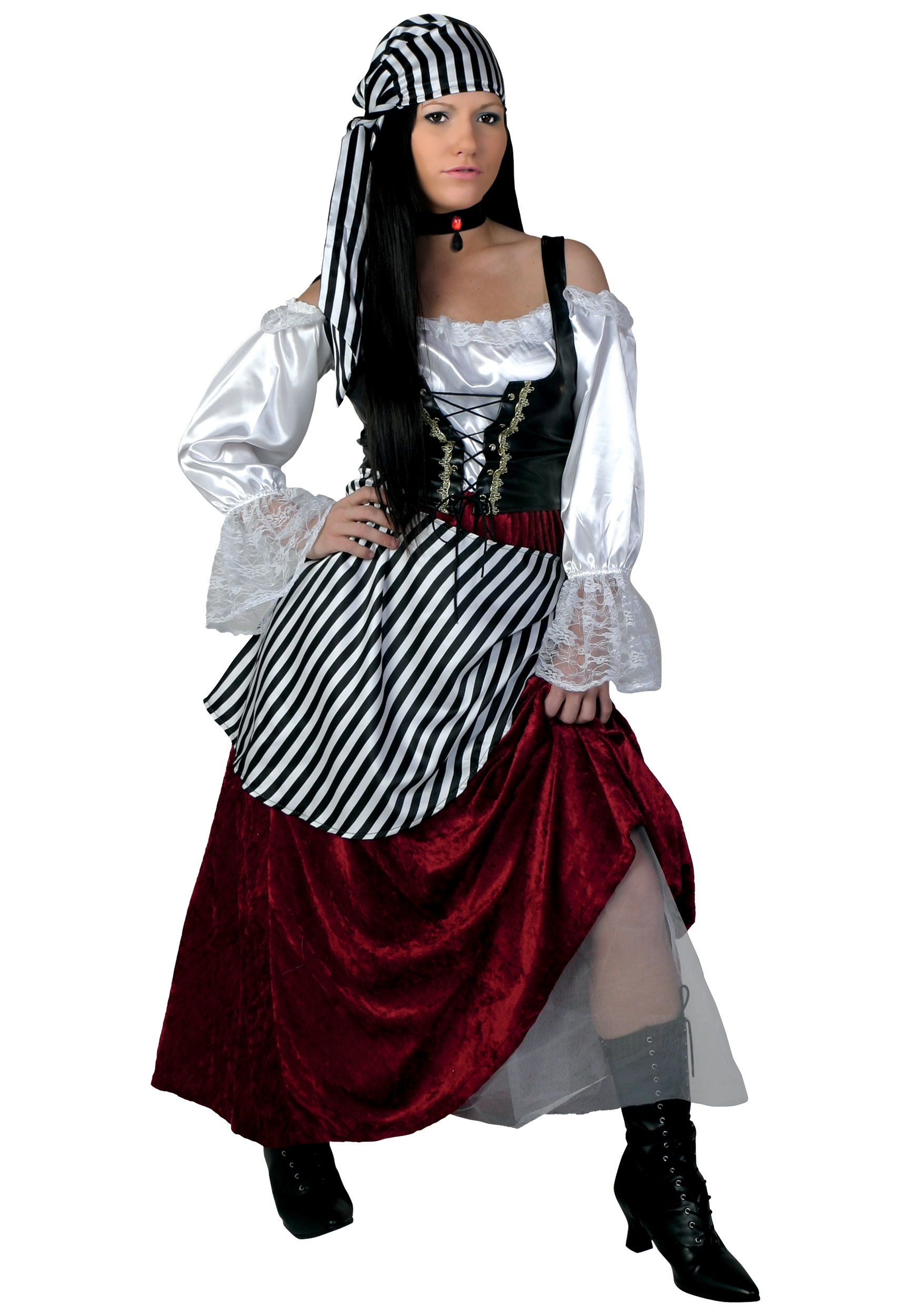 Deluxe Pirate Wench Plus Size Womenu0027s Costume  sc 1 st  Fun.com & Deluxe Pirate Wench Plus Size Costume for Women