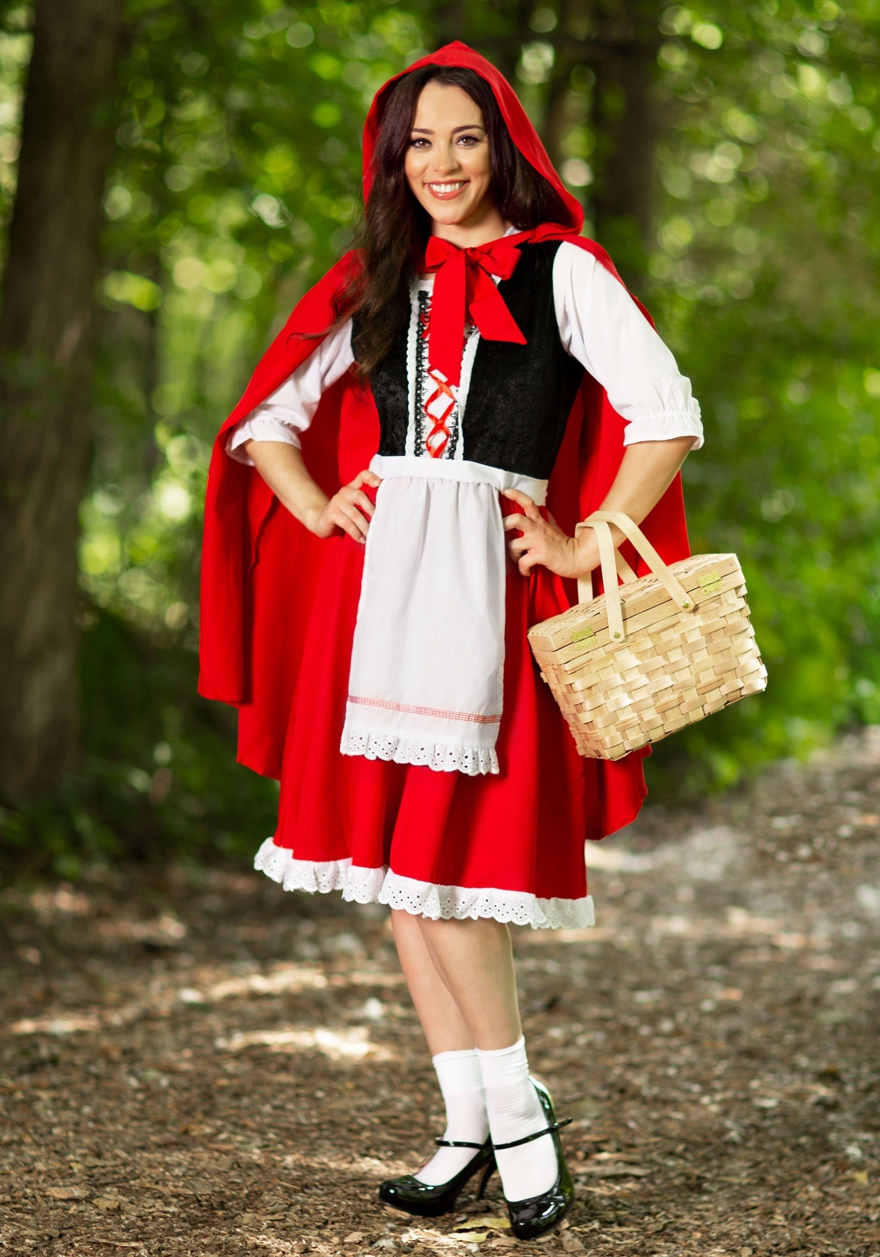 Womens Plus Size Red Riding Hood Costume-3180