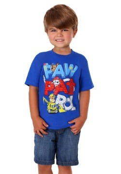 Paw Patrol Illustrated Block Letter Boy's T-Shirt