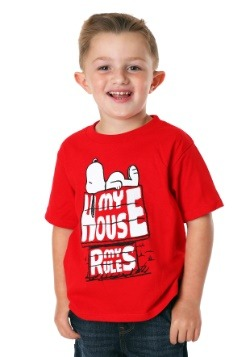 Peanuts Snoopy My House My Rules Boy's T-Shirt