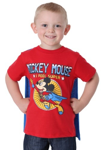 Mickey Mouse Superhero Boy's T-Shirt with Cape