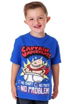 Captain Underpants No Shirt, No Pants, No Problem Boy's T-Sh