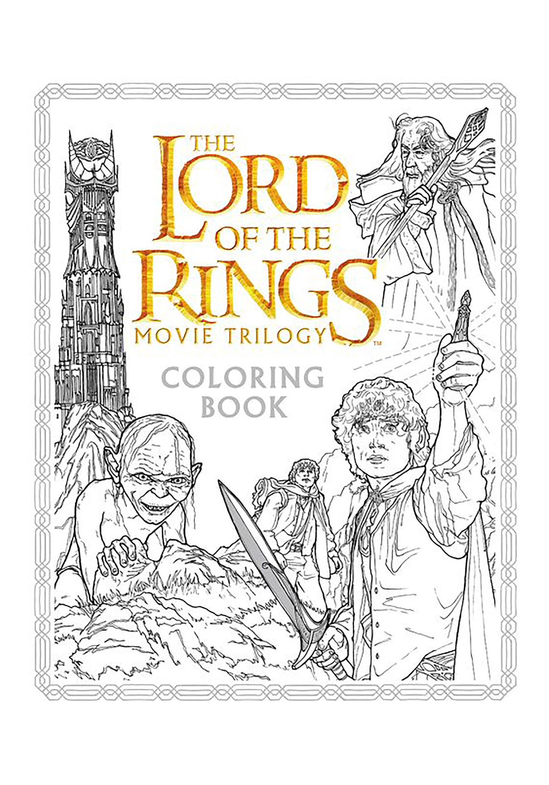 The Lord of the Rings Trilogy Coloring Book