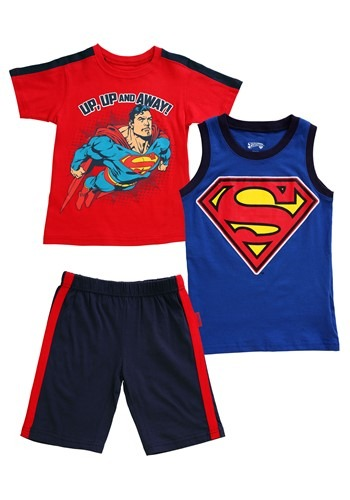 Boy's Superman Up Up And Away 3 Piece Set Update Main