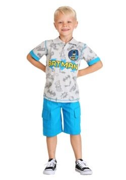 Boy's Batman Polo Shirt and Short Set