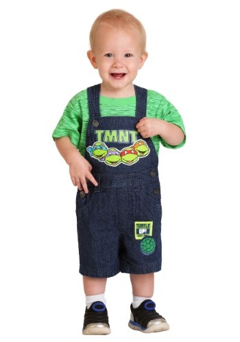 Infant Boy's TMNT Turtle Up Shortall Set