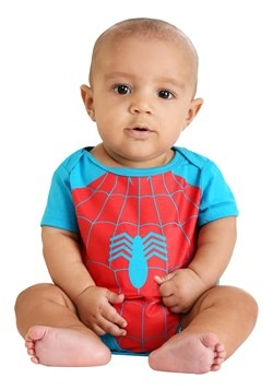 Infant Marvel Spider-Man and Incredible Hulk Onesies1