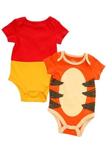 Infant 2 Pack Winnie The Pooh and Tigger Creeper Onsie Set