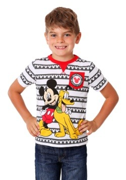 Toddler Boys Mickey and Pluto Pocket Tee