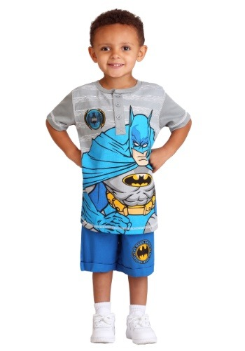 Batman Polo and Twill Short Set for Toddler Boys