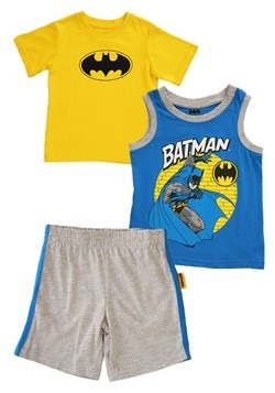 Toddler Boys 3PC Batman Shirt, Tank and Jersey Short Set Upd