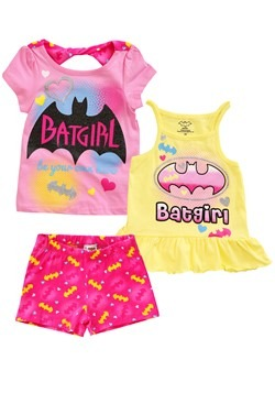 Batgirl 3 Piece Power Top & Short Set