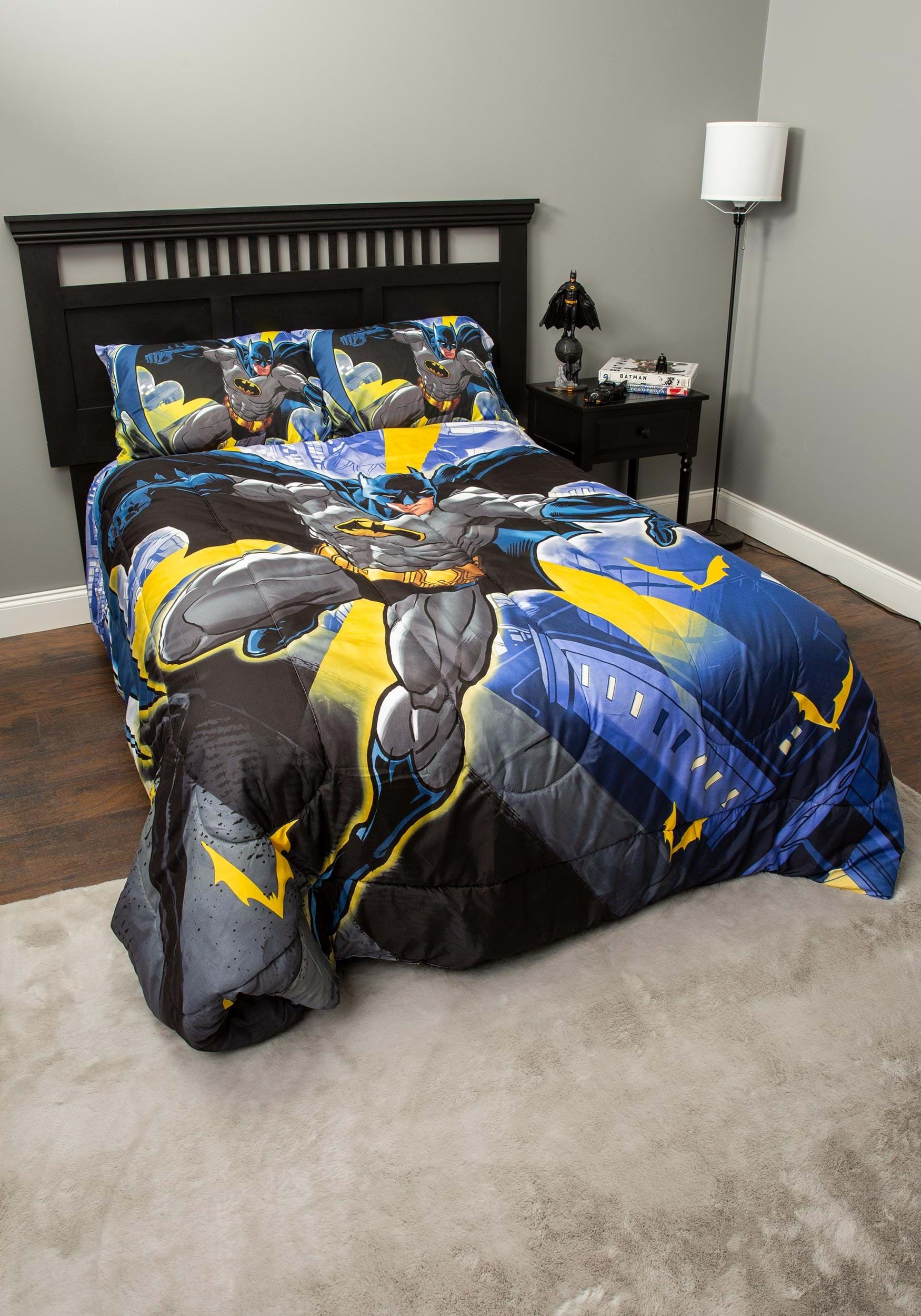 Batman City Comforter Set For Full Size Bed