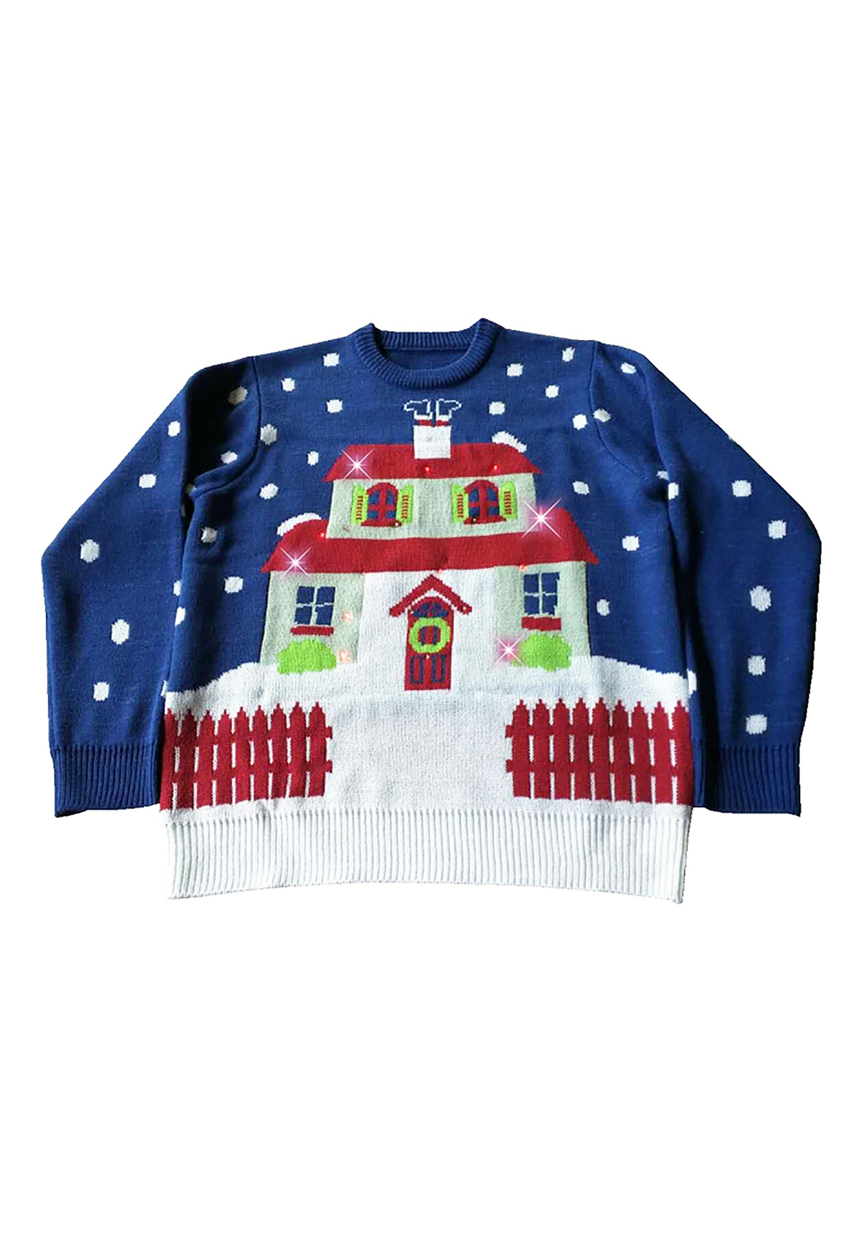 adult house with too many lights ugly christmas sweater