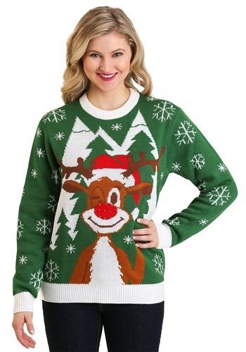 Adult Hello Deer: Light Up Ugly Christmas Sweater Update Mai