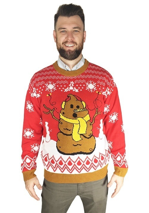 Crappy Holidays Adult Ugly Christmas Sweater Update1