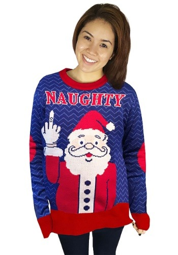 Naughty Santa Ugly Christmas Sweater Adult Update1