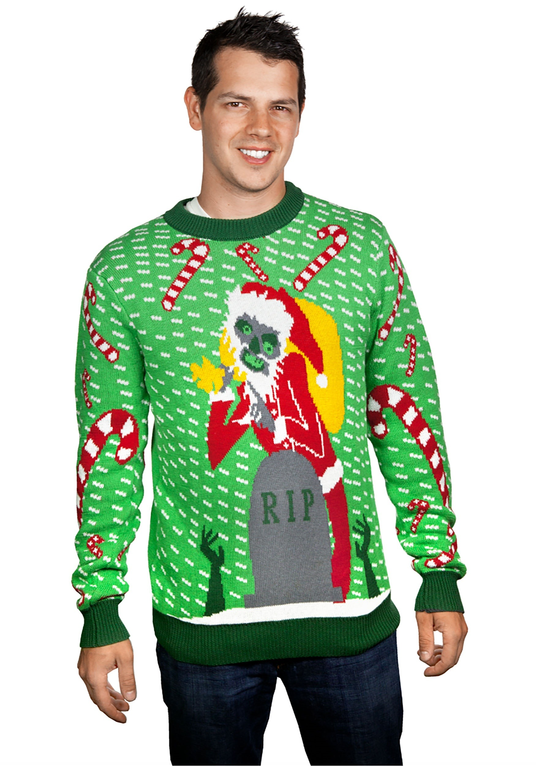 The Zombie Santa Ugly Christmas Sweater