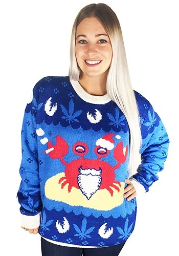Mistah Sandy Claws Crab Ugly Christmas Sweater Update Main u