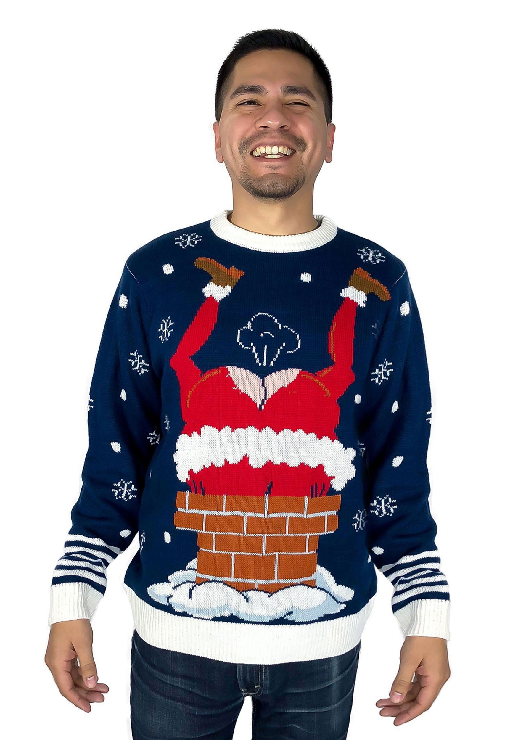 Funny Christmas Sweater.Gassy Santa Ugly Christmas Sweater