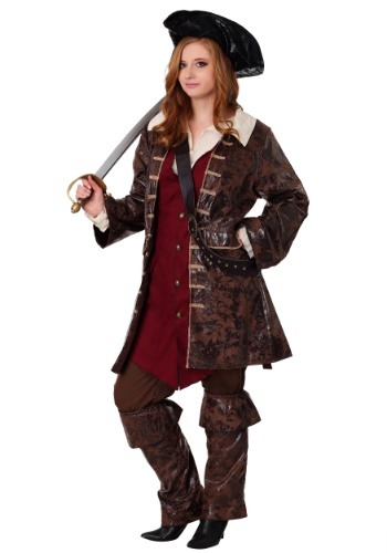 Caribbean Pirate Women's Plus Size Costume1