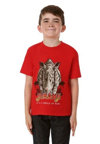 Jumanji It's a Jungle in Here Boy's Red T-Shirt