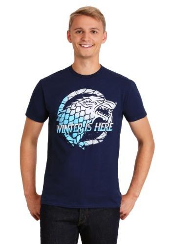 Game of Thrones Winter is Here Navy Men's T-Shirt
